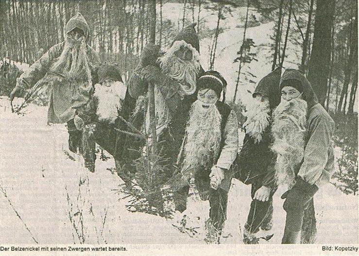 Belzenickel mit Zwergen 70er Jahre